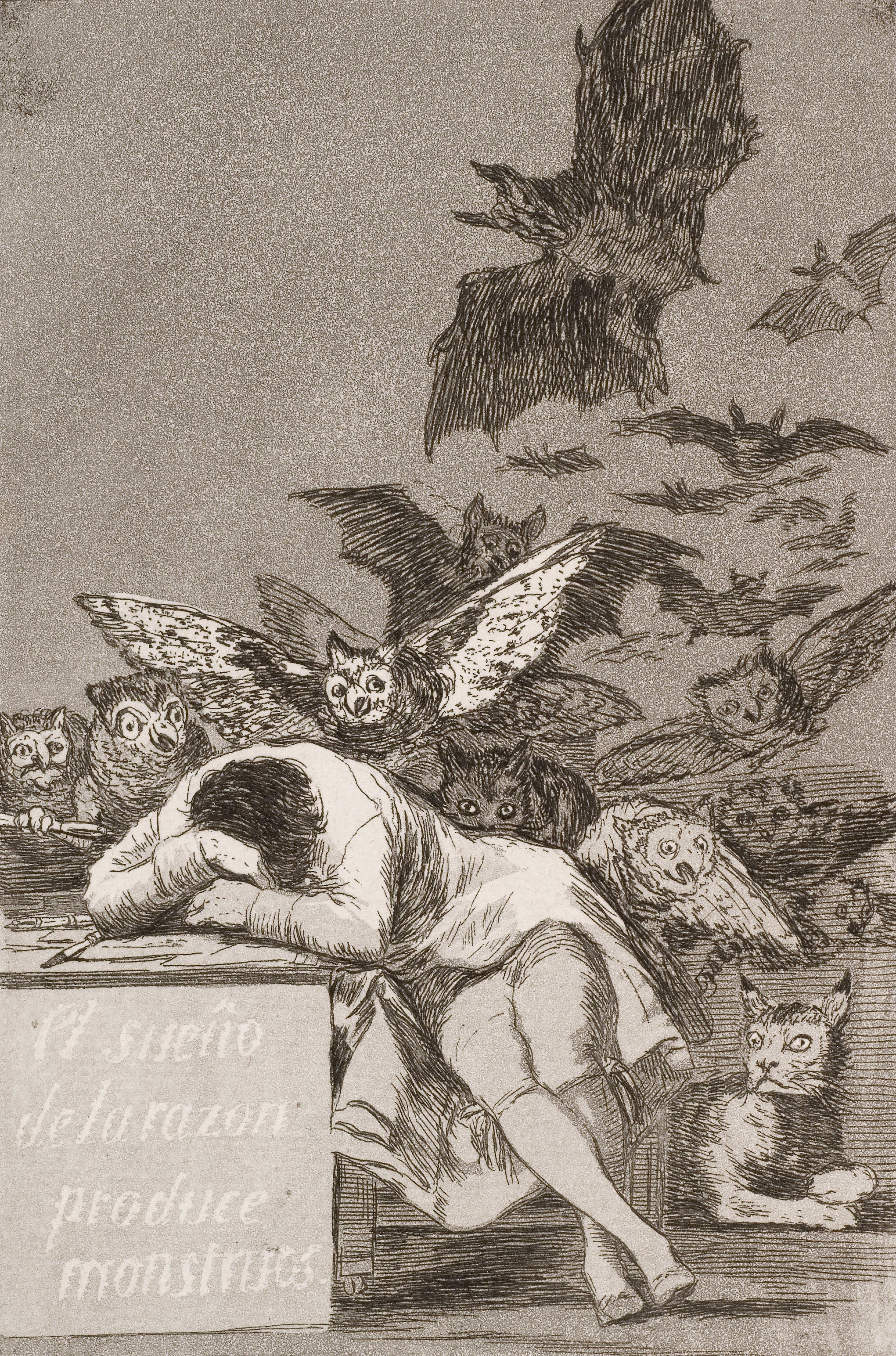 Goya el sueño de la razón produce monstruos (No. 43)Los Caprichos