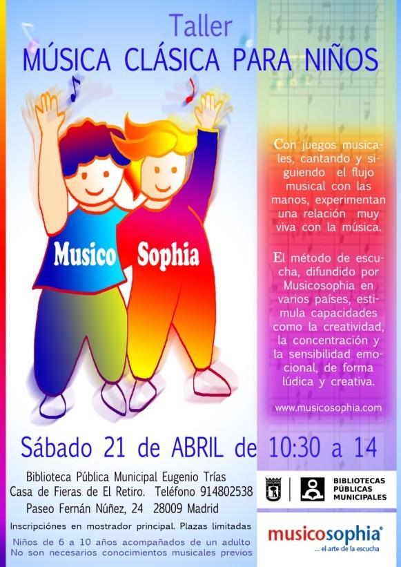 Cartel niños abril